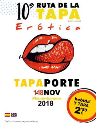 Cartel Ruta de la Tapa Erótica Fuengirola 2018