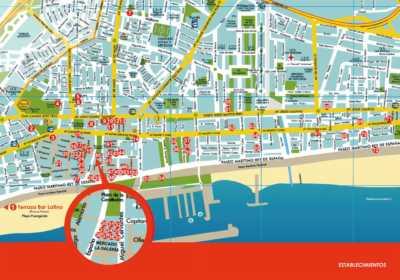 Plano establecimientos Ruta de la Tapa Erótica Fuengirola 2018