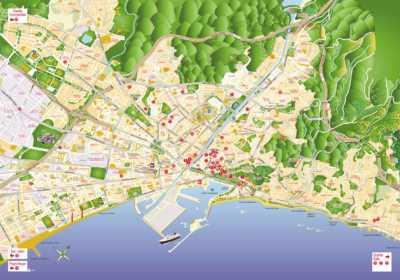 Plano de ubicación de belenes de Málaga 2018-2019