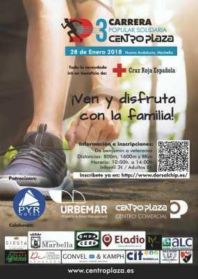 Cartel de la Carrera Popular Centro Plaza Nueva Andalucía - Marbella 2018