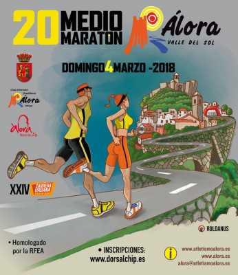 Cartel del Medio Maratón de Álora 2018