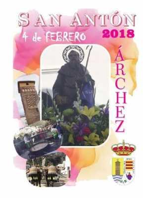 Cartel de la Celebración de San Antón Árchez 2018