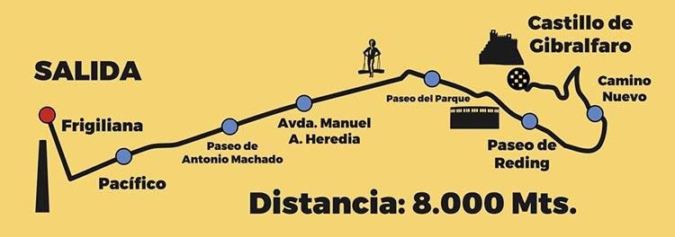Recorrido de la Mini Maratón Peña el Bastón