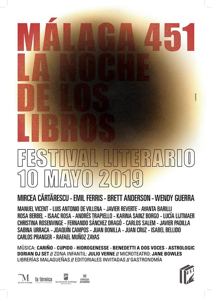 Málaga 451. La Noche de los Libros 2019 en la Térmica