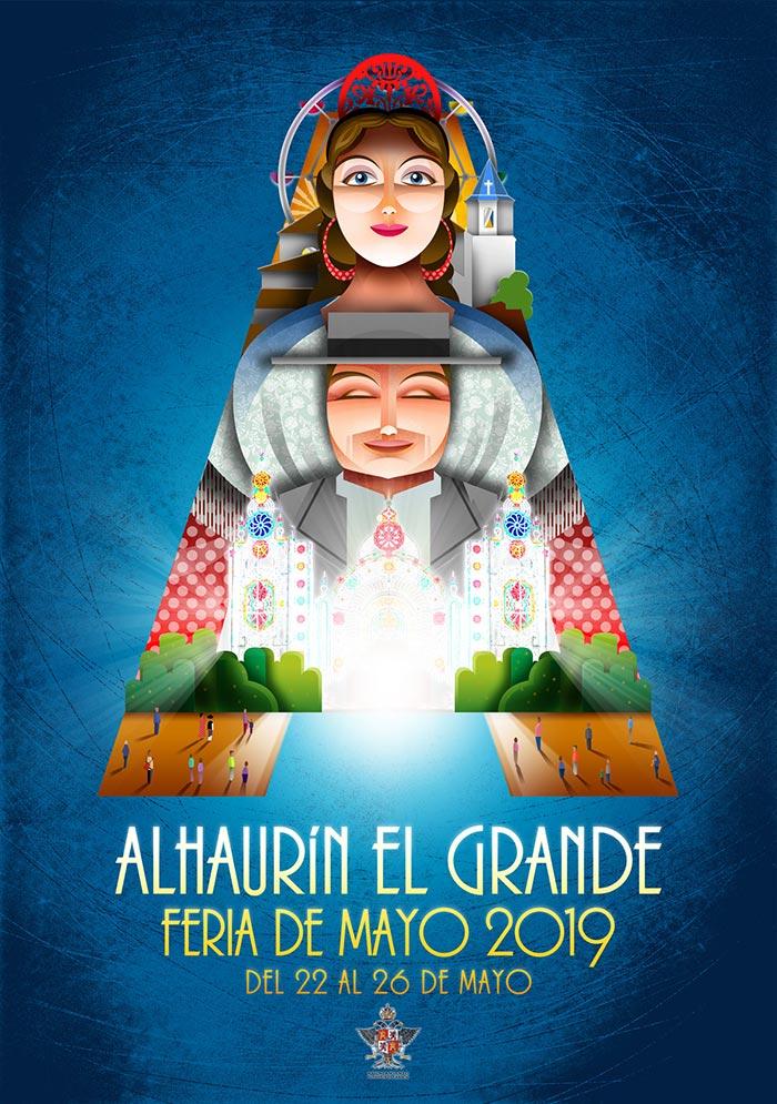 Poster of the May Fair of Alhaurín el Grande 2019