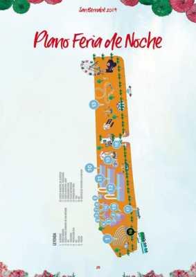 Plano de la Feria de Noche de Marbella