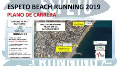 Recorrido Espeto Beach Running playa Misericordia 2019