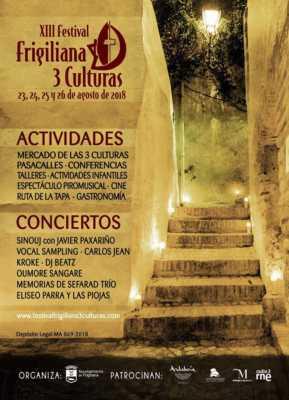 Cartel del Festival Frigiliana 3 Culturas 2018