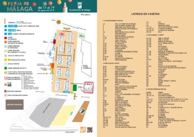 Plano del Real de la Feria de Málaga 2018
