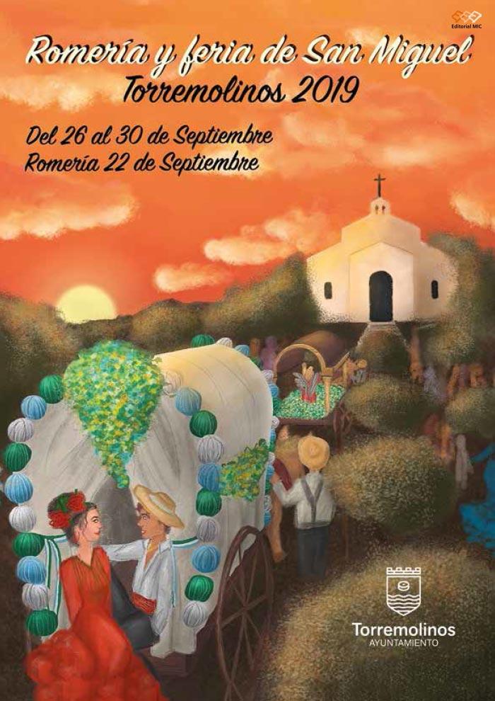 Cartel de la Feria de Torremolinos 2019 y Romería de San Miguel