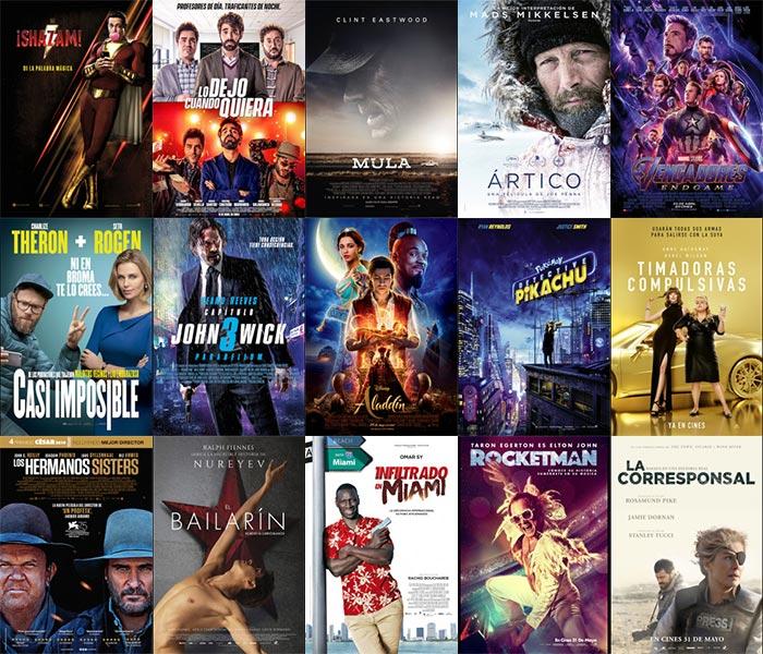 Cartelera para la Fiesta del Cine en Málaga junio 2019