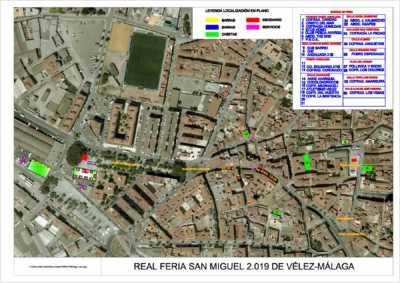 Plano del Real de la Feria de San Miguel de Vélez-Málaga 2019