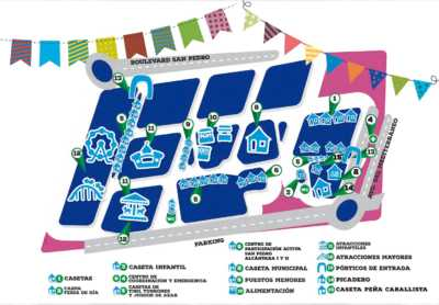Plano del recinto de la Feria San Pedro Alcántara 2018