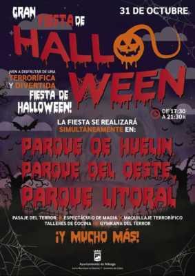 Gran Fiesta de Halloween en los parques del Oeste, Huelin y Litoral 2019