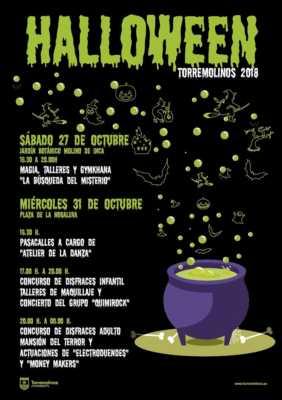 Cartel para Halloween Torremolinos 2018