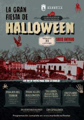 Cartel de la Gran Fiesta de Halloween Marbella 2018