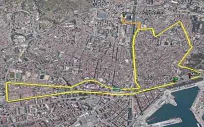 Mapa de la Carrera Urbana Ciudad de Málaga 2019