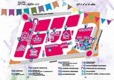 Plano del Real de la Feria de San Pedro Alcántara 2019