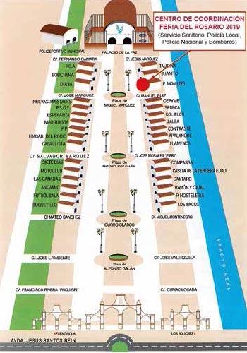 Plano del Real de la Feria del rosario Fuengrola 2019