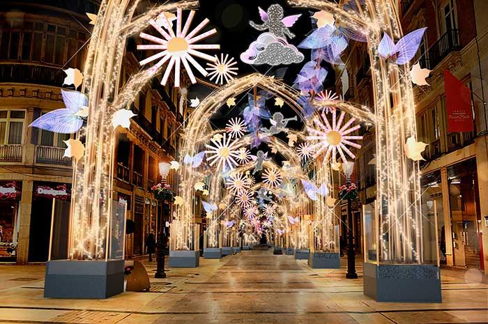 Alumbrado de Navidad de Málaga 2019-2020 Calle Larios
