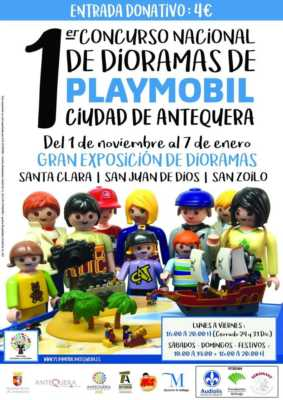 Cartel Concurso Dioramas Playmobil Antequera 2018-2019