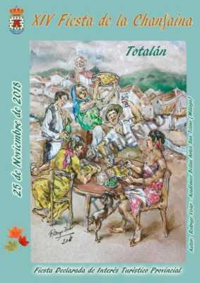Cartel de la Fiesta de la Chanfaina Totalán 2018