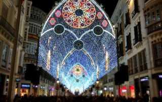 Luces de Navidad de Málaga 2018-2019 en calle Larios
