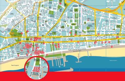 Plano de establecimientos participantes en la Ruta de la Tapa Erótica de Fuengiorla 2019