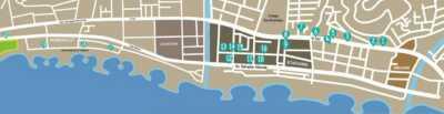 Plano de ubicación establecimientos de la Ruta de la Tapa Málaga-Este 2018