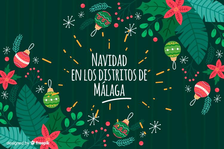 Navidad en los dsitritos de Málaga