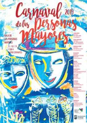 Cartel del Carnaval de las Personas Mayores de Málaga 2019