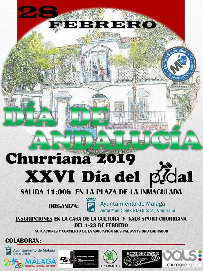 Cartel del Día del Pedal de Churriana 2019