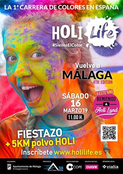 Holi Life 2019 Málaga. Carrera polvos de colores