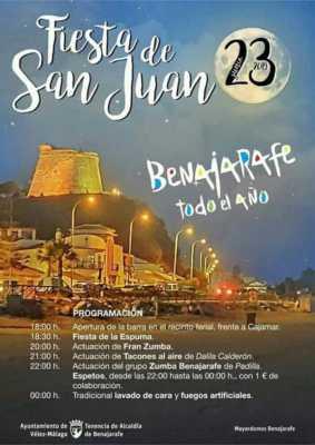 Fiesta de San Juan en Benajarafe 2019