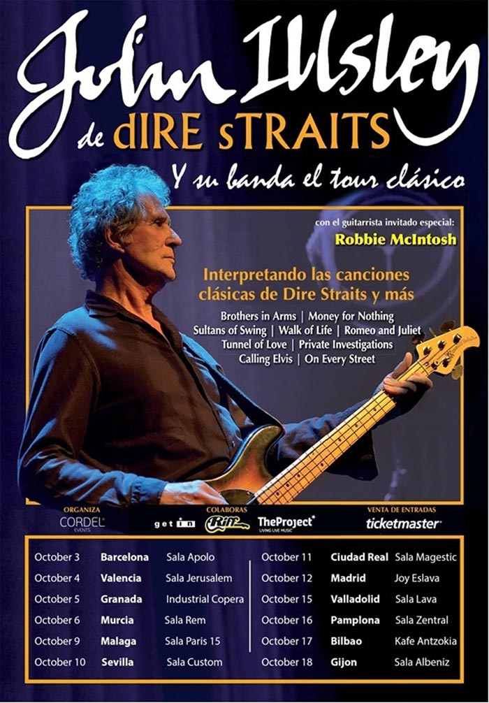 John Illsley de Dire Straits (París 15 - septiembre 2019)