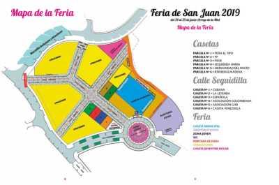 Plano del recinto de la Feria de San Juan Arroyo de la Miel 2019