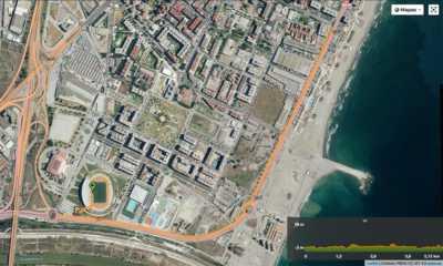 Recorrido de la Carrera Ponle Freno de Málaga 5 y 10km