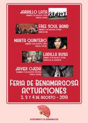 Actuaciones  de la Feria de Benamargosa 2019
