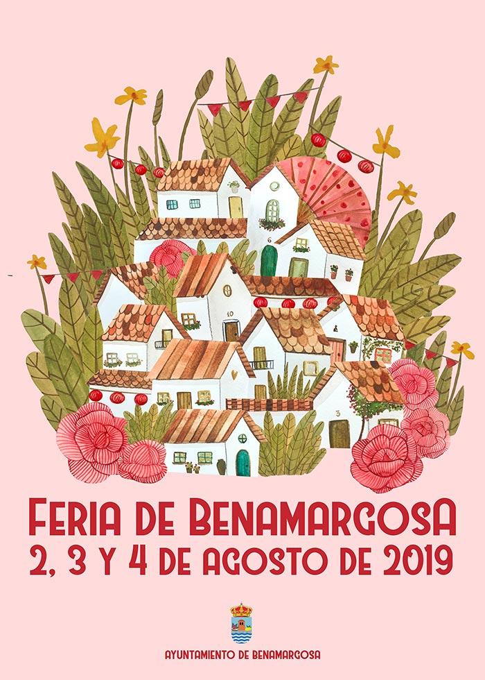 Cartel de la Feria de Benamargosa 2019