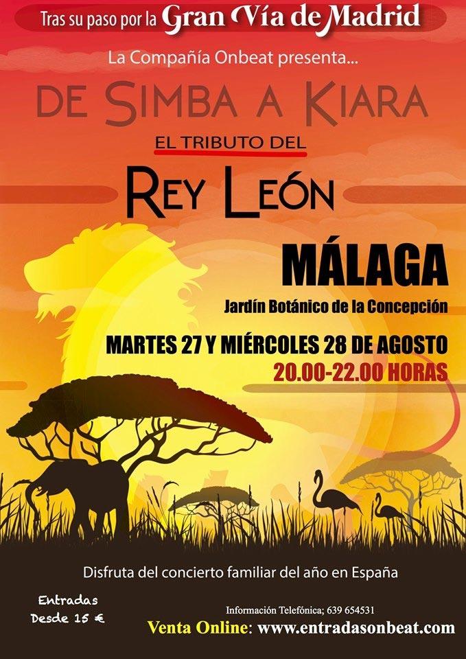 Rey León, el tributo. En el Jardín Botánico de Málaga