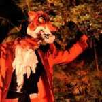 El malvado Sha Khan interpretado en Hara, el musical