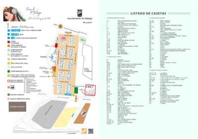 Plano de casetas del Real de la Feria de Málaga 2019