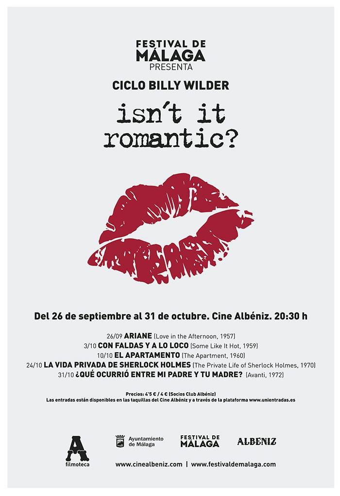 Ciclo Billy Wilder. Isn't it romantic?En el Cine Albéniz