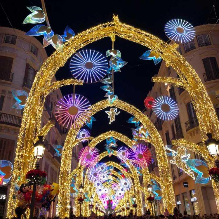 El Bosque Encantado. Iluminación de Navidad en calle Larios