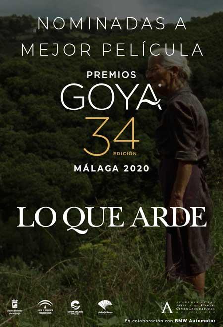 Lo que arde. Nominada a los Goya en Málaga