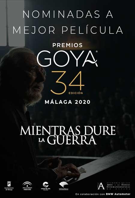 Mientras dure la guerra. Película nominada 34º Premios Goya
