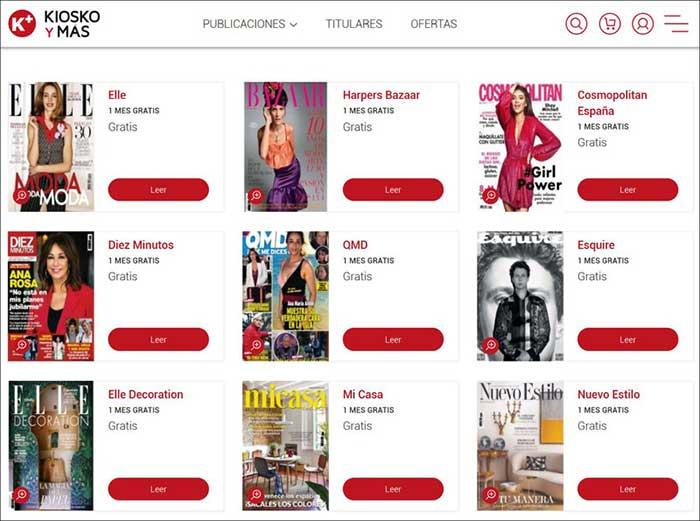 Revistas gratis para leer en casa