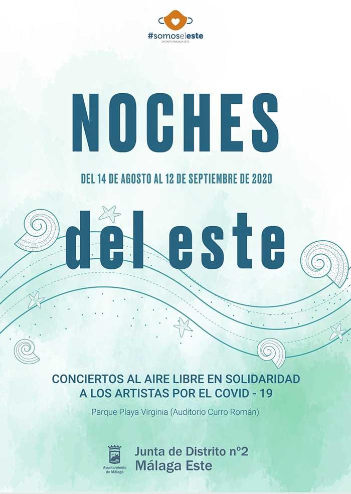 Noches del Este 2020. Actuaciones gratuitas en el distrito 2 de Málaga